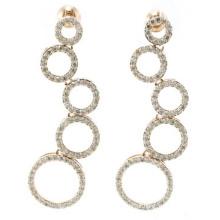 2015 boa qualidade e moda jóias 3A CZ 925 brinco de prata (E6511)