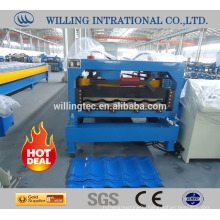 Express durable color corrugated steel roof glazed tile roll forming machine for structure