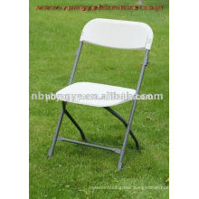 metal frame PP poly plastic folding chair
