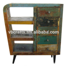 Recycle wood art deco cabinet