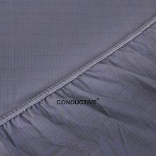 Colcha de algodón ESD Silver con cable de conexión