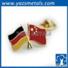 Custom hard enamel or soft enaml American double flag lapel pin