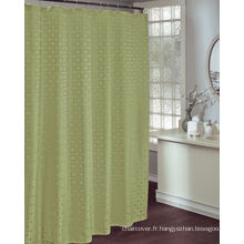 Tissu vert de polyester de rideau en salle de bain d'hôtel St1804