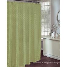 Tela St1804 do verde do poliéster da cortina do banheiro do hotel
