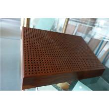 Paneles de panal de aluminio perforado de color madera