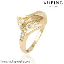 13860 xuping fashion finger 18k gold wedding rings