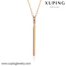 43895 novo design de moda meninas colar 18k simples luxo liga de cobre colar de jóias