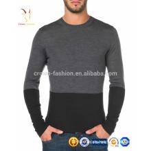 Männer koreanische Design Slim Fit Blank Langarm Merinowolle Shirt