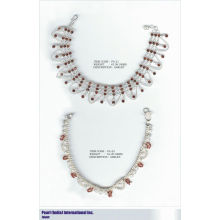 Tornozeleiras Em Prata 925 Sterling Studded Com Pedras Semipreciosas Atacadista Jóia De Prata Indiana