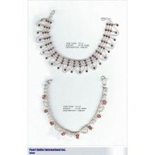 Браслет В 925 Стерлингового Серебра Шипованных С Полудрагоценные Камни Оптовик Индийских Серебряные Ювелирные Изделия