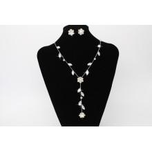 2017 Simple Party último collar de perlas diseños de anillo de oído