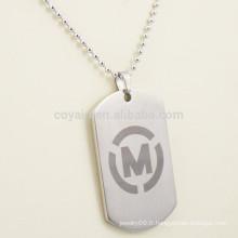 Collier personnalisé en métal pour hommes avec votre propre logo