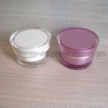 50ml Slanting Round Shape Acrylic Cosmetic Container