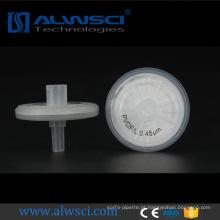 filtros de roda de seringa filtrado hidrofóbicos pvdf para injeção