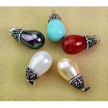 Multi-Color runde natürliche Perle Anhänger Schmuck