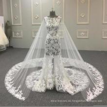 Alibaba sexy trompeta sirena encaje vestido de novia 2017 HA697