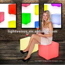 40 cm light up led PE cube chair/waterproof version