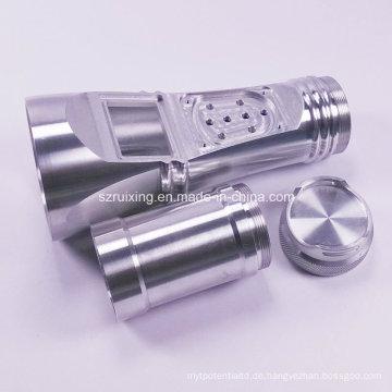 CNC-Bearbeitung für Aluminium-Taschenlampen Zubehör