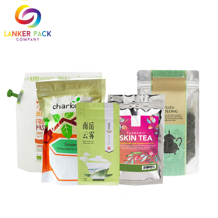 Moisture Proof Custom Mylar Black Tea Bag Packaging