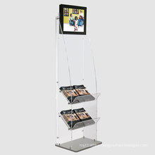 Acrylic Book Display Stand with Two Shelves
