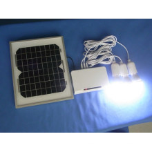 3PCS Solar LED Lighting Kits System with LED 1W 2W 3W Fixed Optional