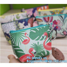 100% cotton tpu coated oxford plain fabric, plastic school pencil case with zipper, transparent plastic pocket