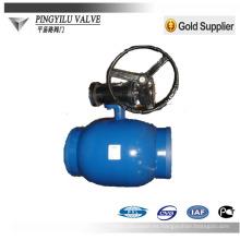 Válvula de bola de soldadura completa de acero al carbono para sistemas de tuberías de calefacción