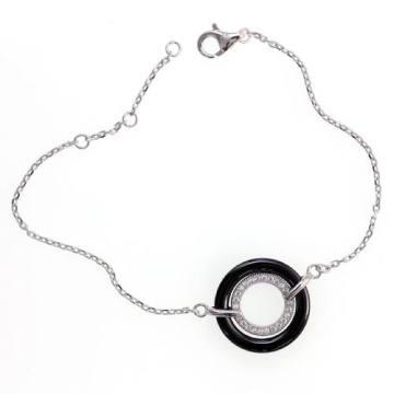 Cerámica y pulsera de plata de ley 925 (T20014)