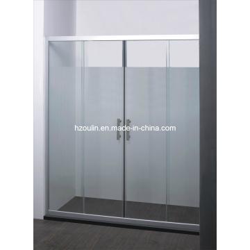 Хромированная алюминиевая душевая дверь (SD-302)