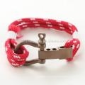 Pulseras náuticas de la cuerda de la pulsera del grillo del acero inoxidable al por mayor con la mejor joyería