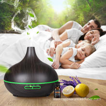 400ml Battery Powered Bamboo Ultrasonic Aroma Humidifier