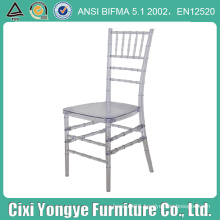 Crystal Clear Plexi Resin Chiavari Chair for Events
