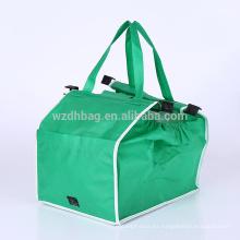 La bolsa de asas no tejida de la carretilla del carro de la compra del ultramarinos del bolso del superventas para el supermercado, promoción