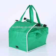 Sacola não tecida para o supermercado, promoção do trole do carro de compras na mercearia do saco da garra do melhor vendedor
