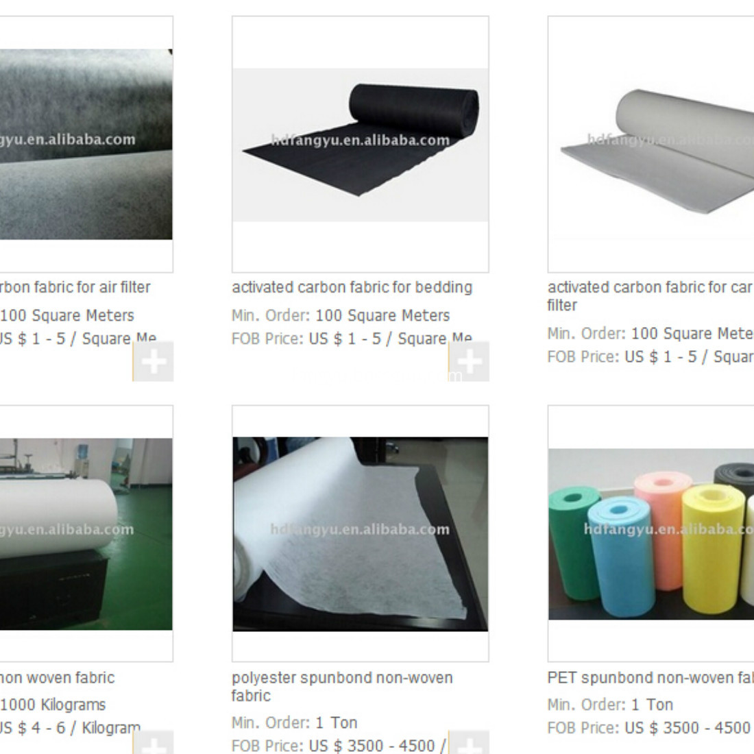 price of PET nonwoven fabric
