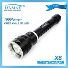 Hi-Max cree xm-l u2 led with magnetic switch led dive torch for scuba