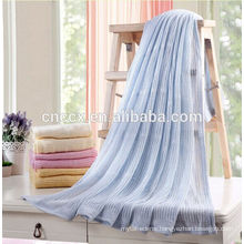 16JW638 home textile cotton blend summer hole design throw blanket