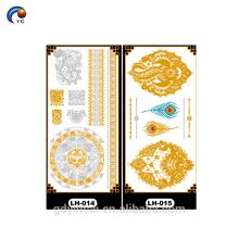 Металлические ювелирные изделия татуировки наклейки тела украшения для голый макияж невесты,свадебные золота украшают татуировки наклейки