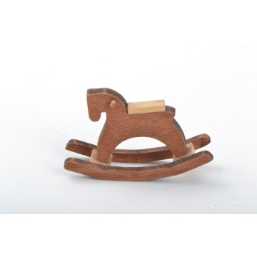 Dollhouse Miniature Wood Rocking Horse