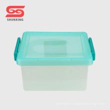 boîte réutilisable 8L réutilisable de ménage multi en plastique avec la couverture