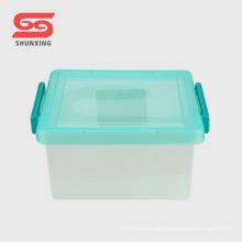 caixa de armazenamento plástica impermeável do agregado familiar 8L reusável multi com tampa