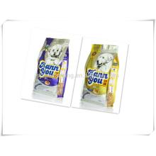 Stehen Sie Haustierfutterbeutel Plastikverpacken mit Reißverschluss an
