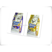 Stand up pet food bag plastic packaging with zipper