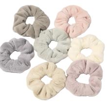 Chouchous kegatalan rambut Immitation Rabbit Fur Plush Thick Scrunchies Autumn Winter Band for Girl Women Tie Hair Accessories