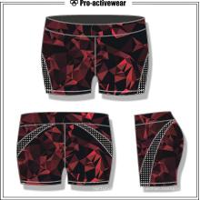 Pantalones cortos de la gimnasia de las mujeres de encargo Pantalones cortos de la aptitud de Lycra de la yoga caliente