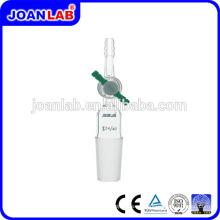 Joan Cristalería de laboratorio Tubo de succión recta Junta macho con llave de paso PTFE