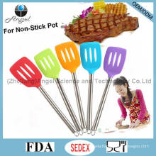 Hot Sale Silicone Slotted Spatula for Chritmas Holiday Ss10