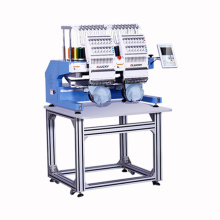 Máquina de bordar computadorizada industrial dois cabeça com software livre digitalizador