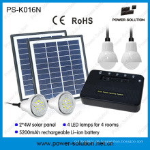 Tragbare Solar Home Beleuchtungssystem mit 4 Lampen und USB Solar Handy Cahrger