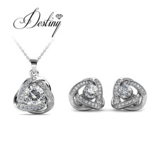 Galaxy Pendant and Earring Crystals Triangle Jewelry Set